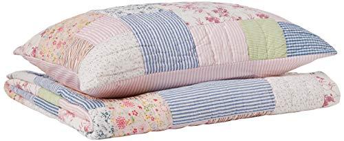 Be-You-tiful Home Alana Patchwork-Bettwäsche-Set für Doppelbett, mit Kissenbezügen, Mehrfarbig