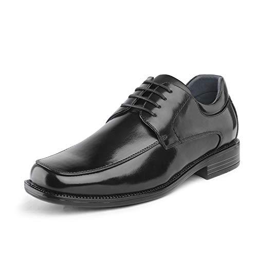 Bruno Marc Men's Black Square Toe Classic Business Dress Shoes Goldman-01-12 M US