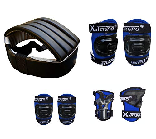 JASPO Secure Skating Protective Bundle for Age Group Up to 14 Years. (Blue)