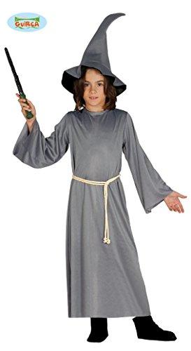 Guirca - Disfraz de Bruja para niño Gandalf 5/6 años, Color Gris (110/116), 8576