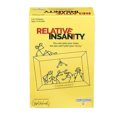 Relative Insanity -- Hilarious Party Game -- From Comedian Jeff Foxworthy -- Ages 14+ -- 4+ Players