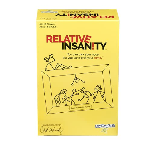 Relative Insanity — Hilarious Party Game — From Comedian Jeff Foxworthy — Ages 14+ — 4+ Players