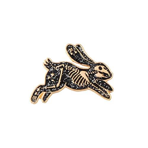 Fliyeong Premium Skeleton Kaninchen Emaille Pin Abzeichen Broschen für Männer Frauen Rucksack Geldbörse Hut Zubehör