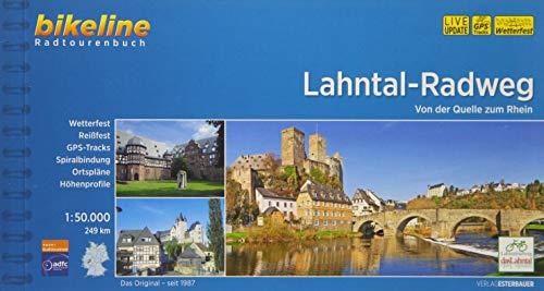 Lahntal-Radweg: Von der Quelle zum Rhein, 1:50 000, 247 km, GPS-Tracks-Download, wetterfest / reißfest: Von der Quelle zum Rhein. 249 km (Bikeline Radtourenbücher)