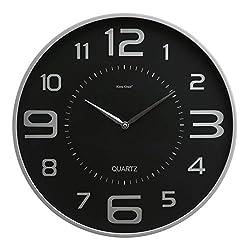 kieragrace Modern wall-clocks, 18-Inch, Silver