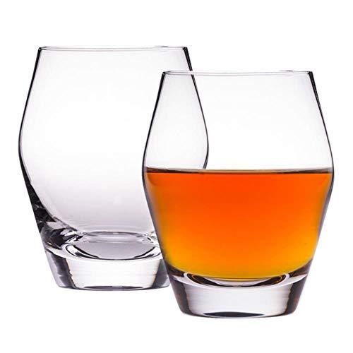 Diseño creativo de barril de Jerez Der Whiskybecher Vaso de whisky Shirley Forma de barril Vaso de whisky de cristal Licor Vodka XO Copa de vino