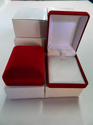 6 X Ecrin bracelet collier en velours rouge Boîte à Bijoux boucles oreilles Rangement Porteur Mariage