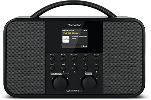 TechniSat TECHNIRADIO 5 IR - Stereo DAB+ Internetradio (DAB, UKW, AUX, 2,4 Zoll dimmbares Farbdisplay, WLAN, Sleeptimer, Wecktimer, 2 x 5 Watt Ausgangsleistung) schwarz