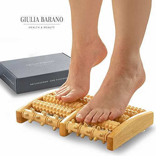 Nuovo design: rullo massaggiatore per piedi in legno | massaggiatore punto trigger punto di forza in legno | massaggio con zone del piede per rilassamento | rullo per tallone | rullo per piedi