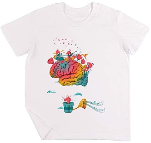 Träume Kinder Jungen Mädchen Unisex T-Shirt Weiß