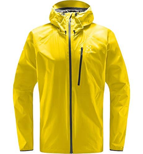Haglöfs Regenjacke Herren L.I.M Jacket wasserdicht, Winddicht, atmungsaktiv Signal Yellow M M