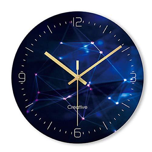 MYYXGS Reloj De Pared De Arte Redondo Creativo Simple Personalidad Moderna Moda Hogar Sala De Estar Mudo Cuarzo ElectróNico Horario 29.8 * 29.8 Cm