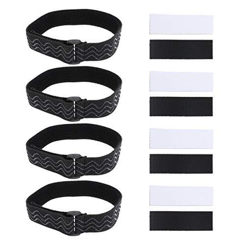 Exceart 4 Set Knielaarzen Bandjes Hoge Laarzen Anti-slip Band Nonslip Bandage Lijm Tape voor Laarzen Anti-Drop Verstelbare Tape Schoenen Accessoires