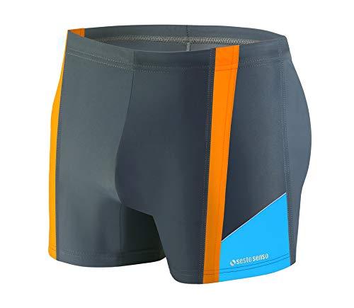 Sesto Senso Pantaloncini da Bagno Uomo Costume Boxer Calzoncini Pantaloni Swim Shorts BD 379 XXL Grafite