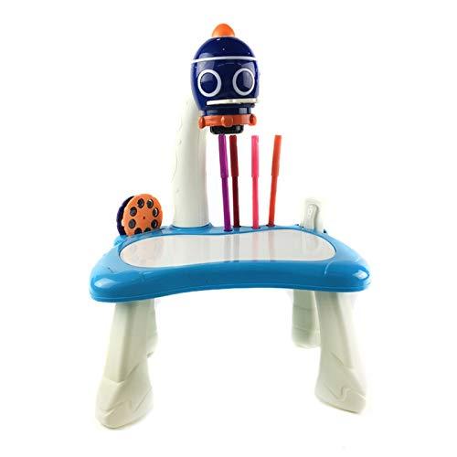 YDong Kinder FrüHp?Dagogische Malerei Lernprojektor Kinder Kunsthandwerk Projektion Zeichentisch Schreibtisch Spielzeug (A)