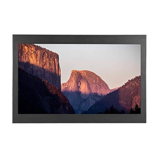 Pantalla táctil capacitiva de 13.3 Pulgadas multipunto táctil 1920 x 1080 Pantalla HD Metal Industrial Monitor portátil Compatible con Entrada VGA/HDMI para PC, TV, CCTV
