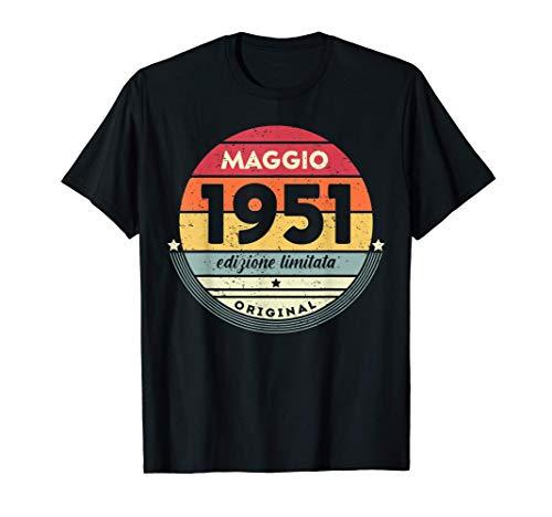 70 Anni Compleanno Uomo Donna Regalo Divertente Vintage 1951 Maglietta