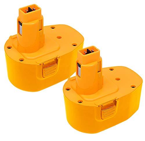 2Pack 3.0Ah 14.4V DC9091 Battery for DeWalt 14.4Volt Battery XRP DC9091 DW9094 DW9091 DE9038 DE9091 DE9092 DE9094 DE9502 Compatible with DeWalt 14.4Volt Ni-Mh Batteries