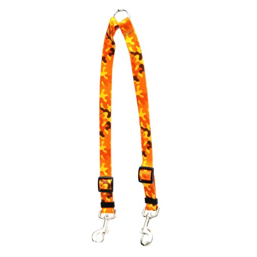 Yellow Dog Design Orange Camo EZ-Grip Dog Leash with Comfort Handle, Large-1' Wide and 5' (60') Long