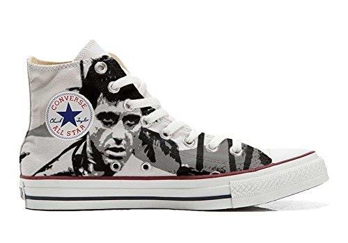 Sneakers all American USA - Base Type Star Unisex - Print Vintage 1200dpi - Italian Style - Scarpe Personalizzate (Prodotto Artigianale) al Pacino, Multicolore (Multicolore), 41 EU Weit
