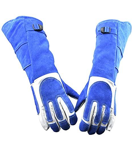 CPTDCL Anti-Biss Tierhandschuhe Weiches Leder Verdicken Kratzfeste Handschuhe Bissfeste Schutzhandschuhe (L)