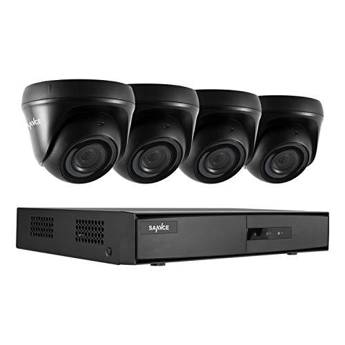 SANNCE Kit Sistema de Seguridad de DVR 8CH 1080N 5-en-1 y 4 Cámaras de Vigilancia 1080P HD con Visión Nocturna IP66 Interior/Exterior Acceso Remoto-sin HDD
