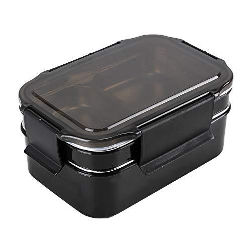 HUAFA Lunch Box, Boîte Bento Hermétique de 1300ml, Boîte Déjeuner Adultes ou Enfants Premium sans BPA (Noir)