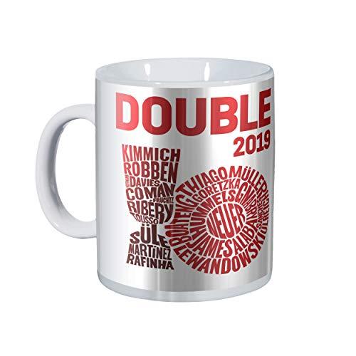 FC Bayern München Double 2019 Tasse, Kaffeetasse, Mug FCB - Plus gratis Aufkleber Forever München