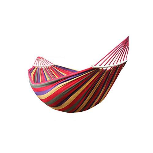EQVUDJT Hamaca Jardin Exterior, Hamaca para Acampar con Palo de Madera, Hamaca para Exteriores Incluye Bolsa de Transporte PortáTil Viajes Playa Patio BalcóN y Viajes-Color Arco Iris
