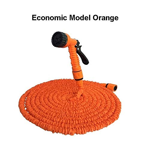 25ft-200ft Tuinslang Expandable Magic Flexible Waterslang Eu Slang Plastic Slangen Pijp Met Spuitpistool Watering - Zwart (Color : Economic Orange, Size : 25FT)