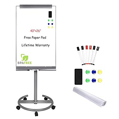 Mobile Dry Erase White Board Easel