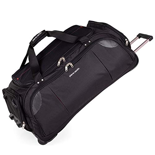 Lightweight Large Roller Bag Holdall with Wheels by Pierre Cardin | Durable Stress Tested Skate Wheels | 95L Capacity | Trolley & Grab Carry Options | Travel Wheeled Duffle Bag CL769 (Large 30')