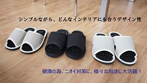 レユール健康サンダル2Lサイズ約27cmまで日本製足ツボブラック