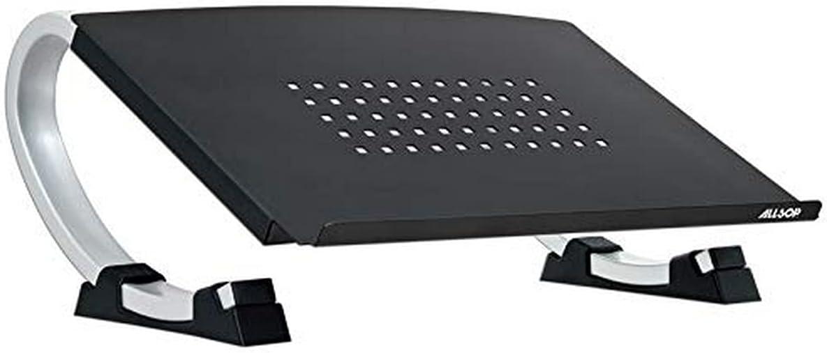 Allsop Redmond Adjustable Laptop Stand, Vented Curved Sturdy Metal Ergonomic Riser