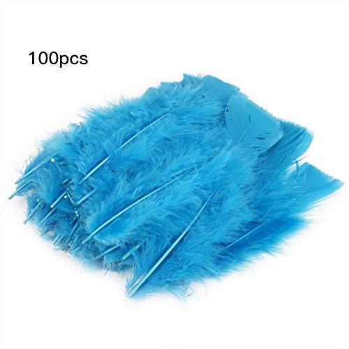 Cafopgrill 100 stuks bonte veren, 3 kleuren, mini-handwerk, ganzenveren, voor het versieren van bruiloften, snoepjes, kleur gevuld, festival, feesten, decoratie