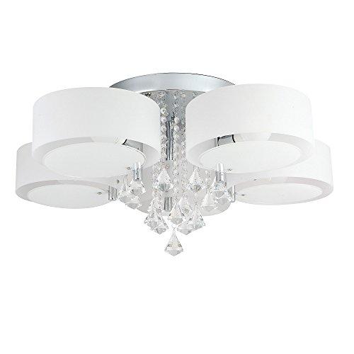 35W Lampadario LED, bianco caldo e 14W RGB, cristallo acrilico, per soffitto, parete, corridoio, camera da letto, cucina, soggiorno 5-flammig
