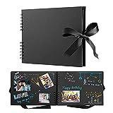 Álbum de Bricolaje Foto Scrapbooking 40 páginas Memory Books Souvenir Libro bebé niño Álbum Scrapbooking para Viajes de Boda Cumpleaños 6.17 (Color : Black)