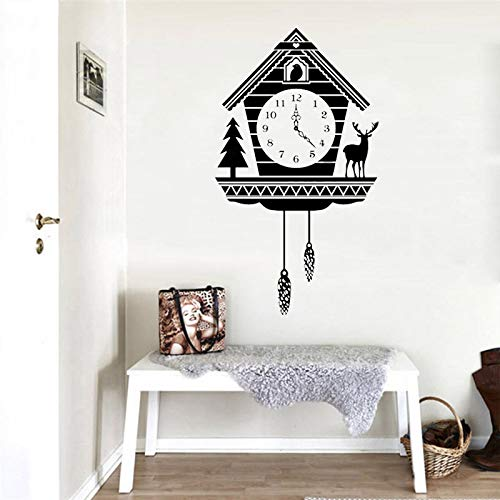 hetingyue Creative Land Kuckuck, wandklok, diermotief, zelfklevend, decoratief, afneembaar