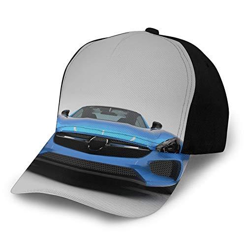 Unisex curvado borde béisbol gorra moderna azul deportes coche potencia prestigio velocidad vehículo rápido imagen automóvil poliéster tela tela sombrero gorra de béisbol