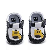 BEBARFER Baby Boys Girls Shoes Cartoon Crawling Slippers Soft Moccasins Toddler Infant Crib Pre-Walkers First Walkers Shoes Sneakers (F-Giraffe Black, 6-12 Months)