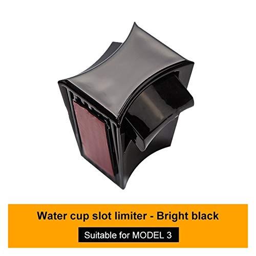 Crying Soporte de la Taza de Agua del Coche FIT FOR Tesla Modelo 3 Accesorios Interiores para Tesla Modelo Y Modelo Tres 2017-2020 (Color Name : Shiny Black)