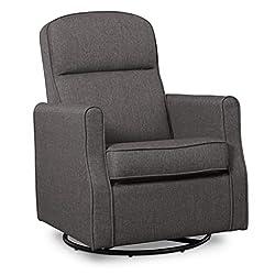 commercial Swivel Rocking Chair Delta Children Blair Slim, Dark Gray delta emma glider