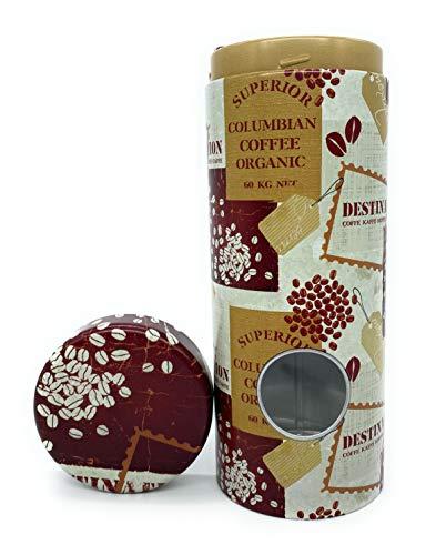 Premium Kaffeepaddose 'Columbian Coffee Pad' - Kaffeebehälter Platz für 18 Kaffeepads - Kaffeedose mit Padheber