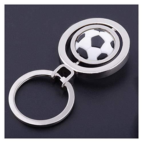 FSJIANGYUE Keychain 3D Sport rotierender Basketball Fußball Fußballtisch Tennis Badminton Golf Keychain Schlüsselanhänger Ringschlüssel FOB Ball Geschenke für Männer (Farbe: Tennis Keychain)