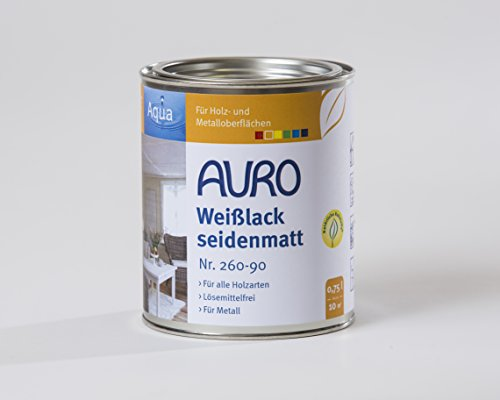 AURO Weißlack seidenmatt Aqua 0,75L [Misc.]
