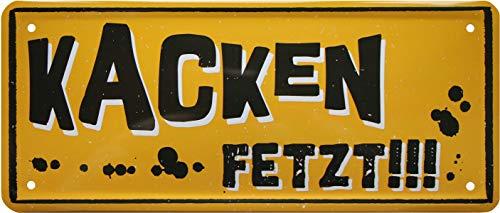 Faire des gâteaux. Klo 873 Witziger Witziger Spruch Plaque décorative en tôle Motif écriteau 28 x 12 cm
