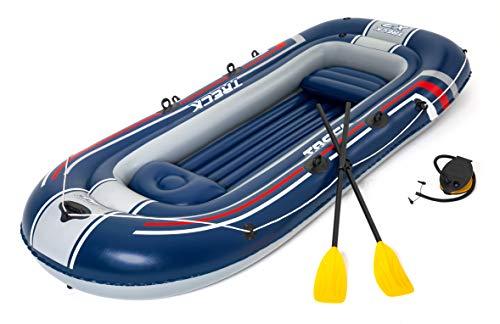 """Bestway 61110 Hydro-Force Schlauchboot-Set """"Treck X 3"""" für 3 Personen + 1 Kind 307 x 126 x 39 cm, Color"""