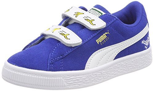 Puma Unisex-Kinder Minions Suede V PS Sneaker, Blau (Olympian Blue White), 34 EU