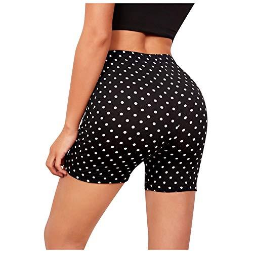 Pantalones Cortos Deportivos Shorts de Estampado de Mariposas/Puntos Leggins Push Up de Cintura Alta Mallas de Yoga para Correr Gym Fitness Pantalón de Deporte Transpirables Elásticos