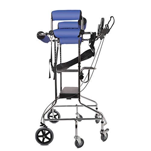 Snow Yang 6 Räder Erwachsene Gehhilfe Ältere Walker Stroke Hemiplegia Rehabilitation Equipment mit Handbremse ausgerüstet Assist mit doppelter Unterarmstütze